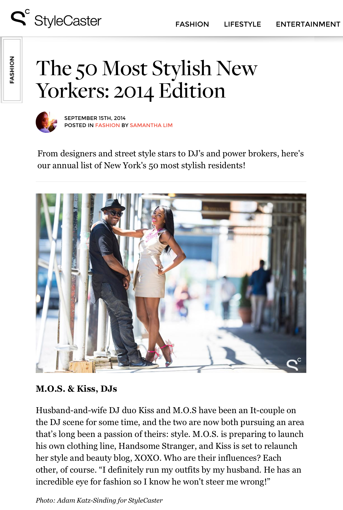 Stylecaster - 50 Most Stylish NYers
