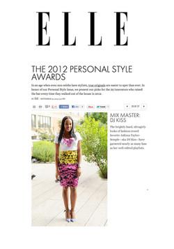 Elle Magazine - Personal Style Awards
