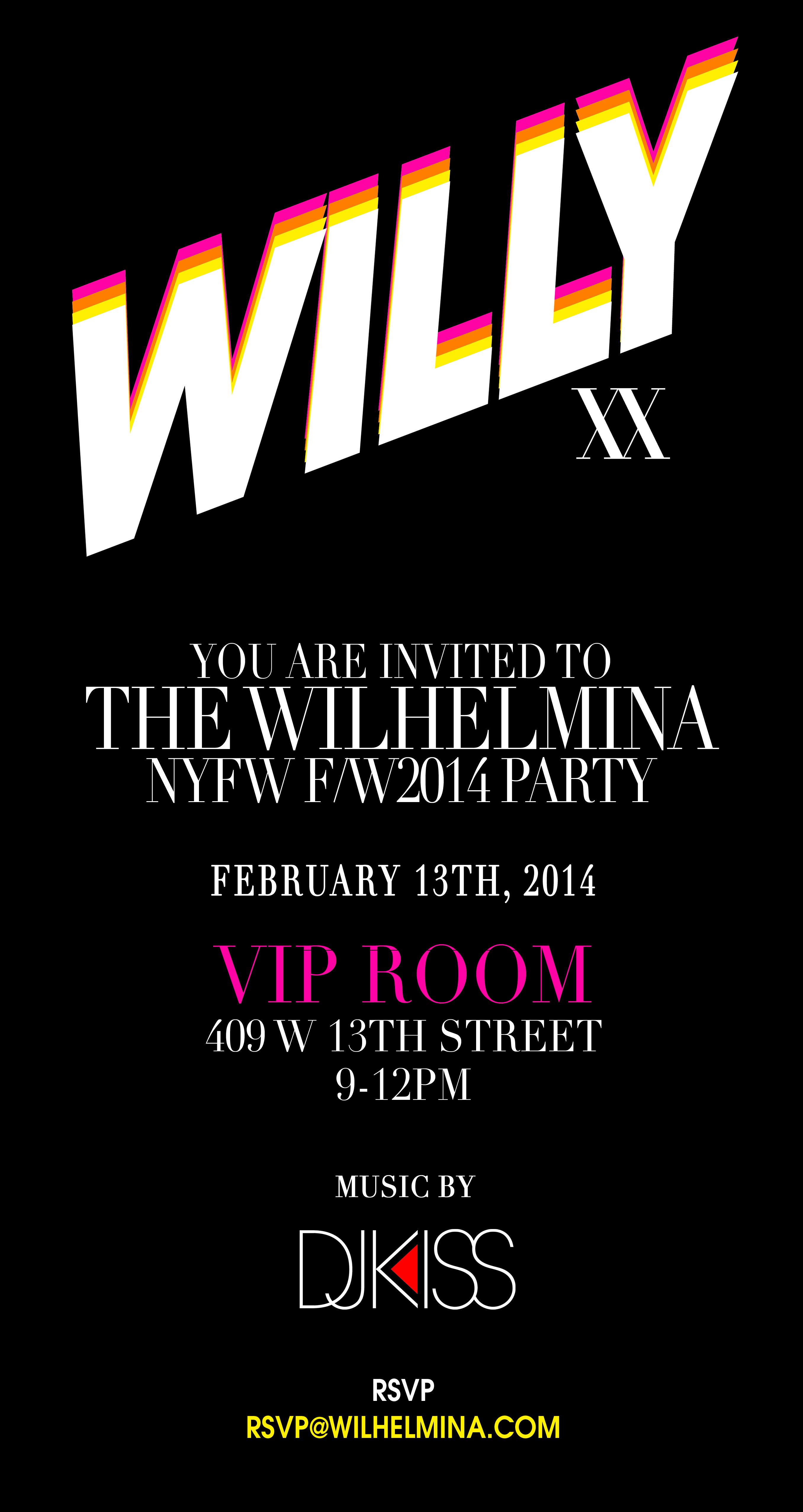 Wilhelmina Fashion Week Party