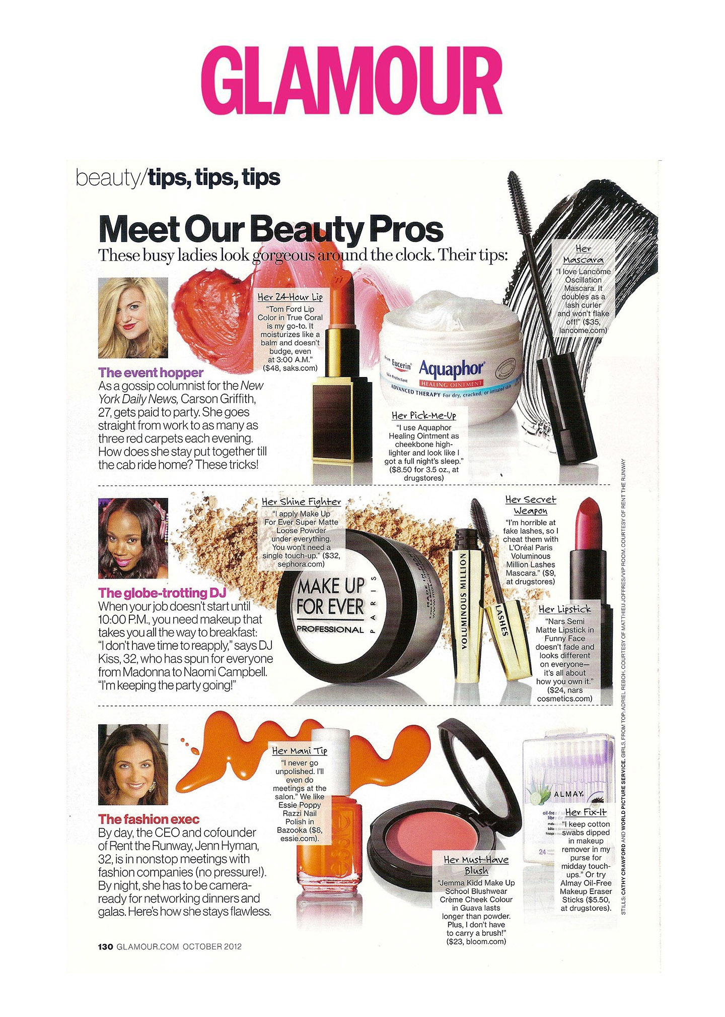 Glamour Magazine - Beauty Feature