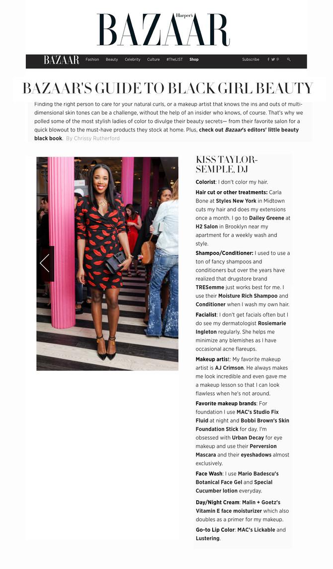 Harper's Bazaar Guide to Black Girl Beauty