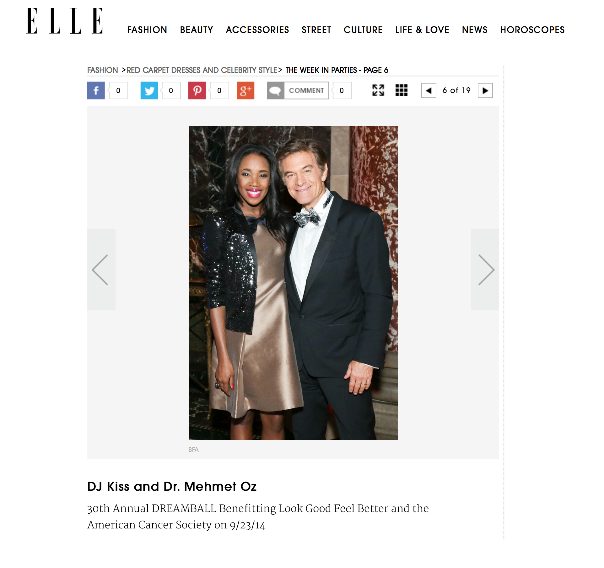 Elle.com - Party Pics