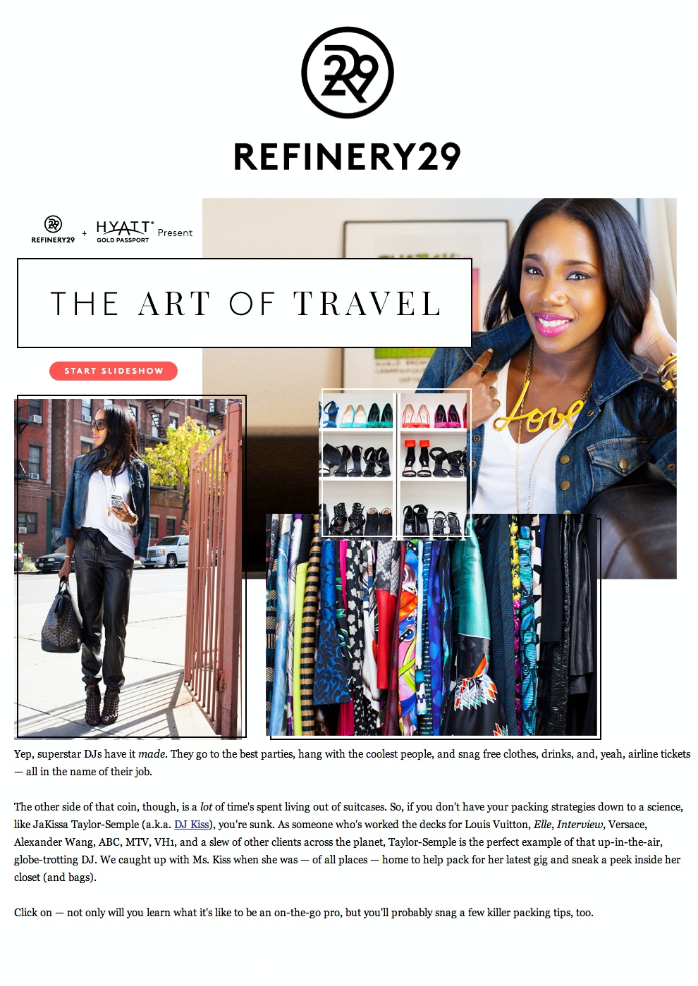 Refinery 29 - The Art of Travel