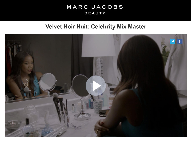 Marc Jacobs Velvet Noir Nuit project