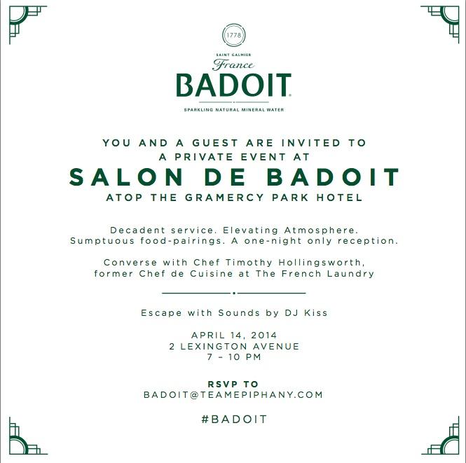 Badoit Water Launch