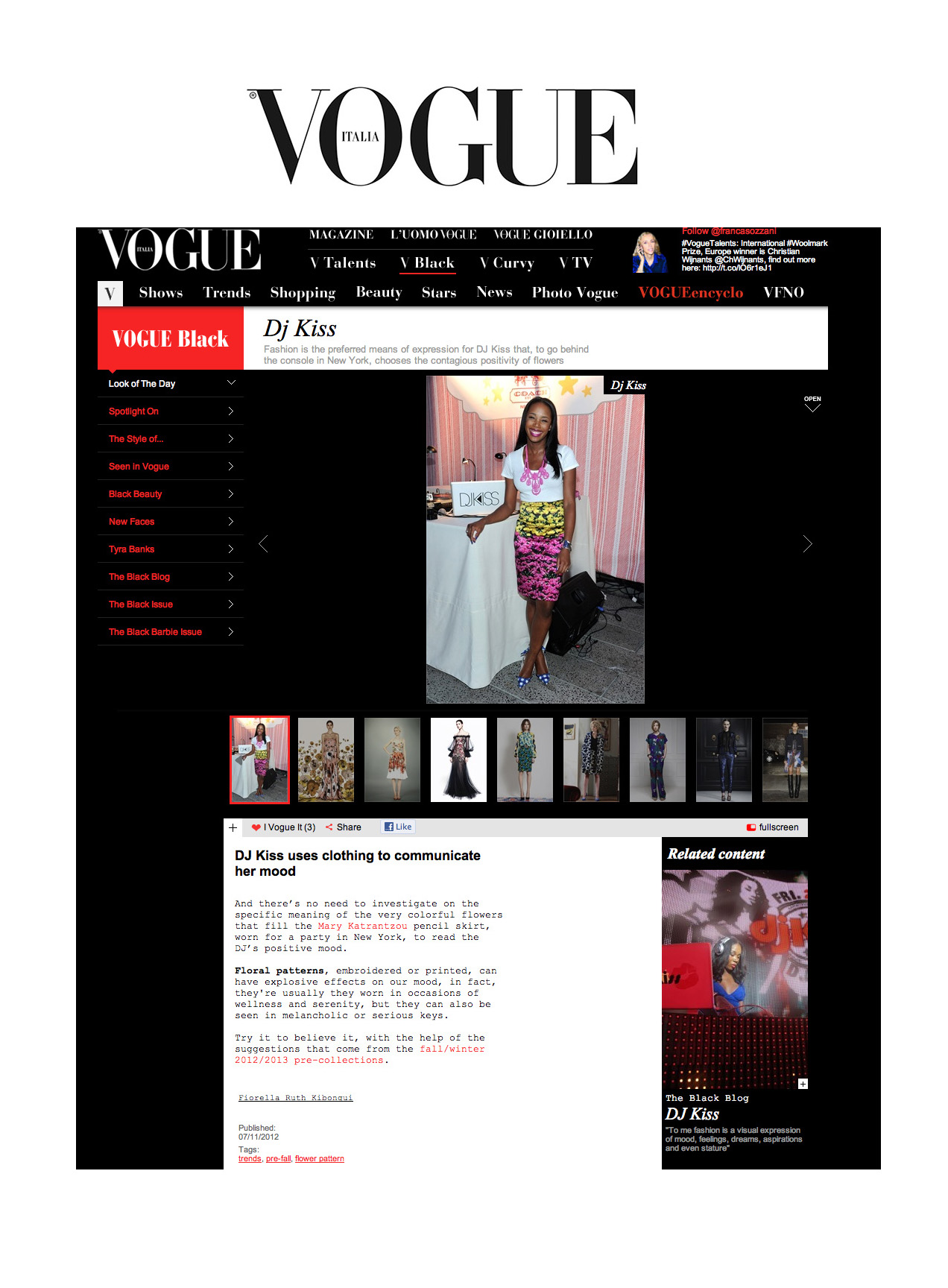 Vogue Italia - Look of The Day