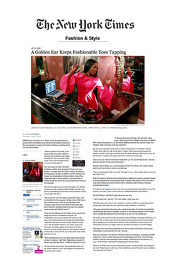 DJ Kiss - NY Times Style Section