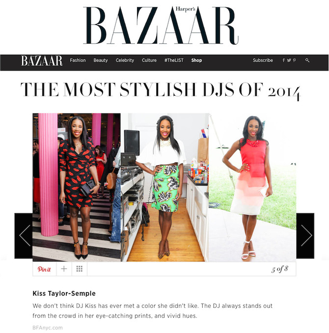 Harper's Bazaar Best Dressed DJs of 2014