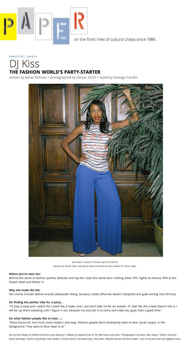 Paper Magazine's Beautiful People of 2014