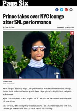 Page Six - Prince Performance