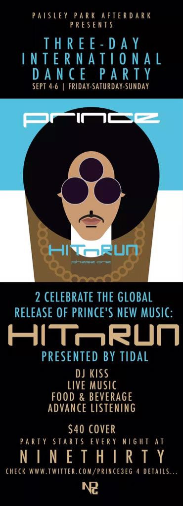 Three-Day Dance Party with Prince!!