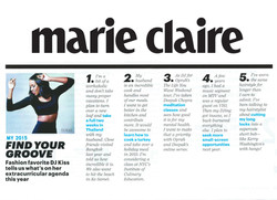 Marie Claire - Find Your Groove