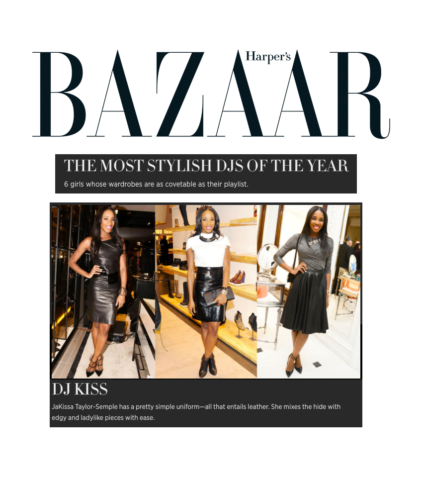 Harper's Bazaar - Most Stylish DJs