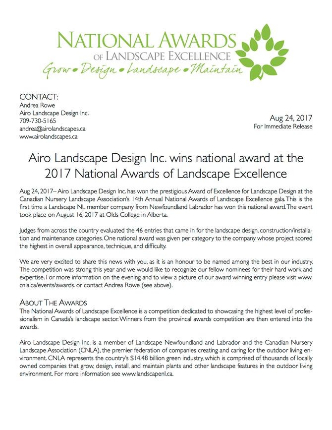 2017 National Awards- CNLA