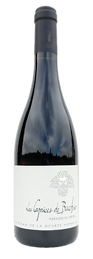 Wine bottle Terre des 2 Sources Domain de la Deveze Monnier Caprices de Bacchus 2016 AOP Terrasses du Larzac