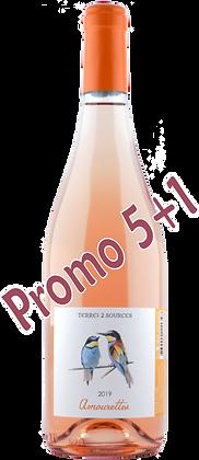 Amourettes rosé 2019 IGP Pays D'Oc (6 bouteilles)