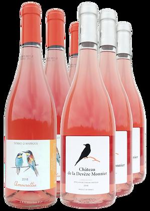 Mixed case - Amourettes and Château de la Devèze Monnier rosé (6 bottle box)