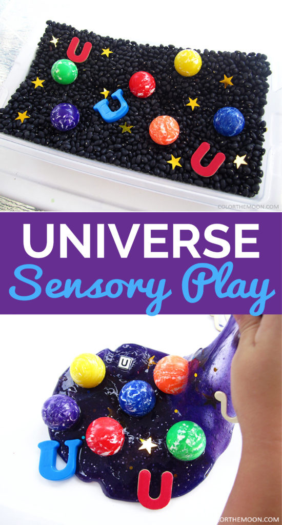 Universe sensory play