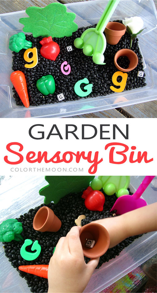 This garden sensory bin is a GREAT way to celebrate spring. And it's so easy to make! What an awesome sensory activity for hand-on play!