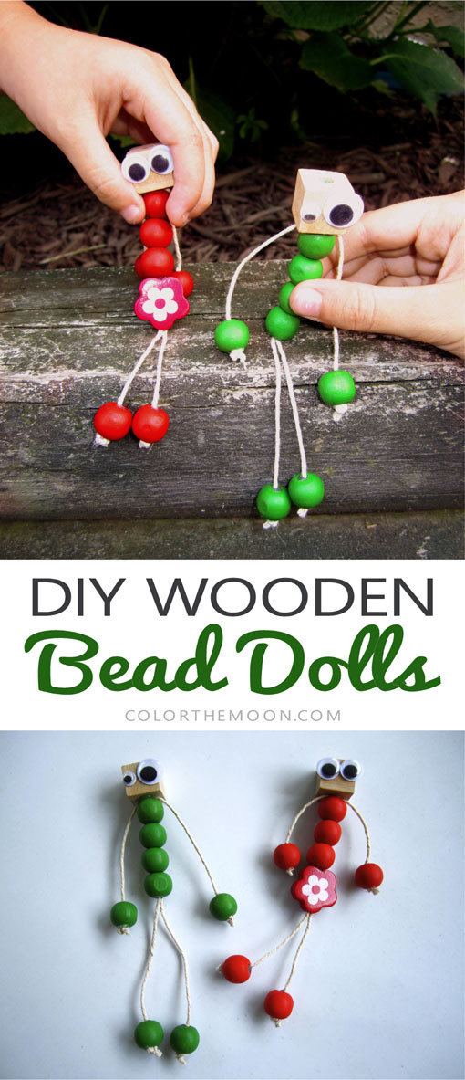 These DIY wooden bead dolls are SO EASY to make and super adorable too! I can't wait to make them with the kids!