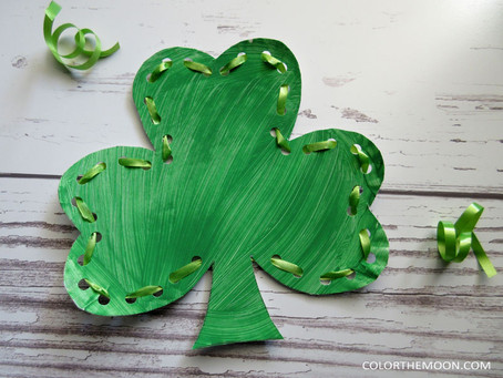 LACING SHAMROCK: ST. PATRICK'S DAY CRAFT FOR KIDS