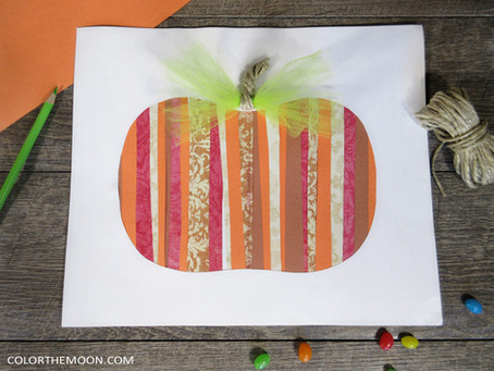 PAPER STRIPS PUMPKIN: AN EASY FALL CRAFT FOR KIDS