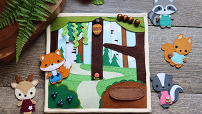 FOREST FRIENDS QUIET BOOK PAGE