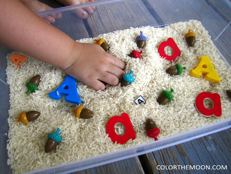 THE FUN AND EASY WAY TO MAKE A LETTER 'A' SENSORY BIN