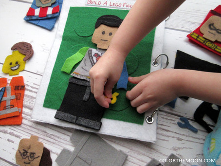 BUILD A LEGO FIGURE: A QUIET BOOK PAGE THAT LEGO FANS WILL LOVE!