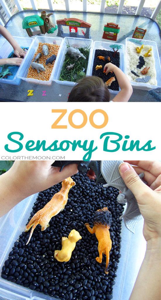 Zoo Sensory Bins