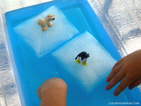 AN ICEBERG SENSORY BIN THAT KIDS WILL LOVE THIS SUMMER!