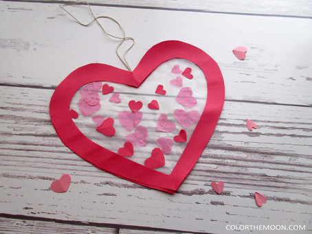 A VALENTINE'S DAY SUN CATCHER THE KIDS CAN MAKE
