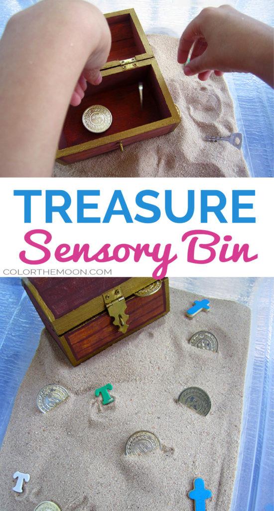treasure sensory bin