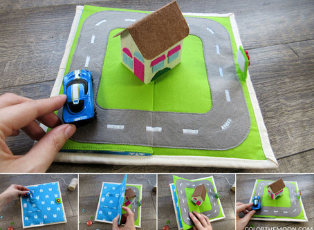 POP-UP HOUSE QUIET BOOK PAGE