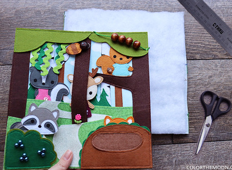 TUTORIAL: HOW TO FINISH THE BACK SIDE OF YOUR QUIET BOOK PAGE