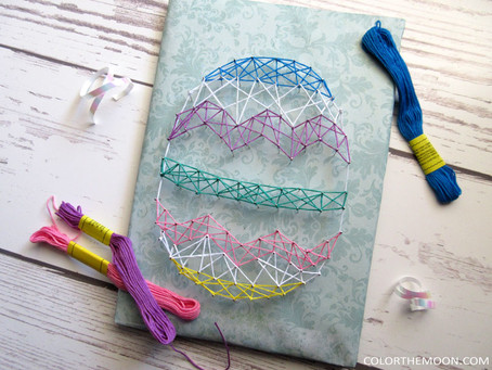 STRING ART EASTER EGG CRAFT FOR KIDS
