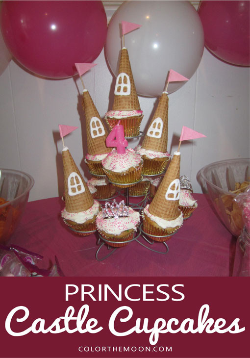 These princess castle cupcakes are SO CUTE and so easy to make! What a great idea for a princess-themed birthday party!