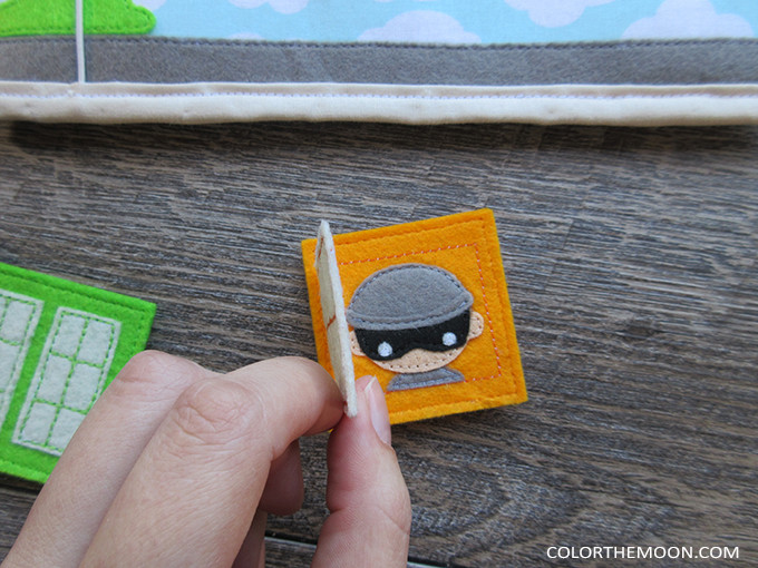 Pattern & Tutorial Available Now! Superhero Buildings Quiet Book Page