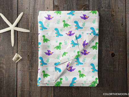 KIDS DINOSAUR FABRIC AND PRODUCTS
