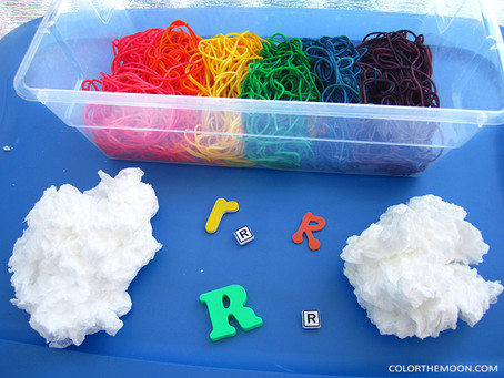 HOW TO MAKE SOAP CLOUDS FOR A FUN RAINBOW SENSORY BIN