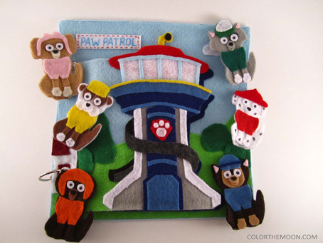 PAW PATROL FINGER PUPPETS: A QUIET BOOK PAGE THAT KIDS WILL LOVE!