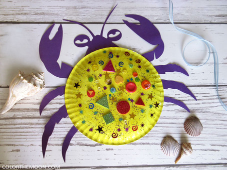 MOANA PAPER PLATE CRAFT – TAMATOA CRAB, WITH FREE PRINTABLE