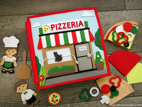 A PIZZERIA QUIET BOOK THAT YOU CAN MAKE