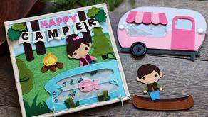 HAPPY CAMPER QUIET BOOK PAGE