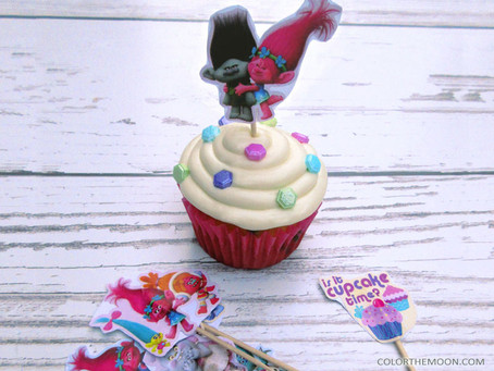 MAKE YOUR OWN TROLLS CUPCAKE TOPPERS IN JUST MINUTES