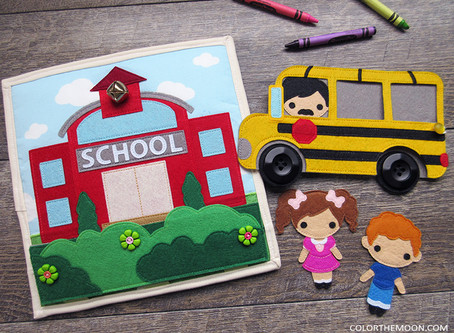 A SCHOOL QUIET BOOK THAT YOU CAN MAKE