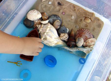 THE EASY WAY TO MAKE AN OCEAN SENSORY BIN