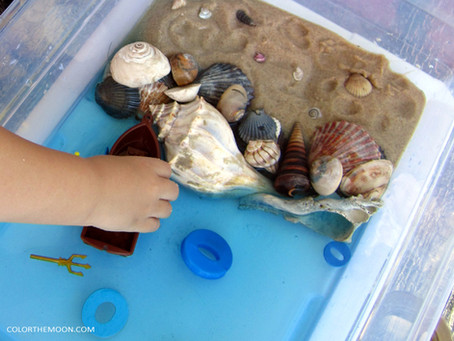 THE EASY WAY TO MAKE AN OCEAN SENSORY BIN