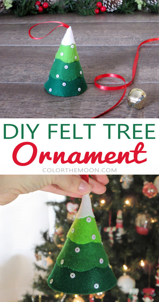 This felt tree ornament is SO CUTE and so easy to make. What a great Christmas craft for kids!