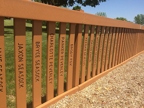 Personalized Picket Fence Posts